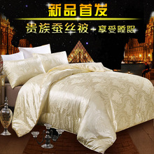 Luxury Satin Silk Comforter Super Soft Autumn Winter Comforter Size Queen Full Adult Mulberry Silk Quilt edredon Home Hotel Use