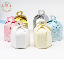 Big Heart Love 25Pcs/lot Flying Butterfly Candy Boxe Love Heart Wedding Favors Box Party Shower Gift Box Wedding Party Supplies