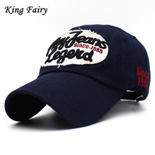 [KING FAIRY]100% Cotton Cap Baseball Cap Snapback Hat Summer Cap Hip Hop Fitted Cap Hats For Men Women Grinding Multicolor(China)