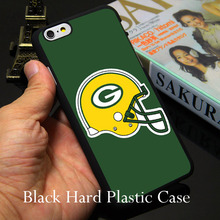 Fashion Green Bay Packers NFL Styl Hard Black Phone Case for iPhone 7 6 6S Plus 4 4S 5C 5 SE 5S Cover