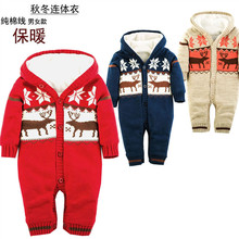 2015new autumn and winter children clothing  rompers 100%cotton boy&girl christmas wear free shipping