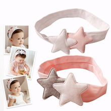 Multi Colors Fashion Korean Baby Pink Soft Cotton Stars Headband Hairbands Kids Children Girls Headwear Hair Accessories Bandage(China)