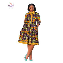 2019 Autumn African Clothing Bazine Riche African Dashiki Plus Size Party  Dresses for Women Halfsleeve Bazine Dress BRW WY679 a1f0517395a8