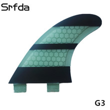 srfda New design surfing fins FCS g3 surfboard fins with fiberglass honey comb material(three-set) S size(China)