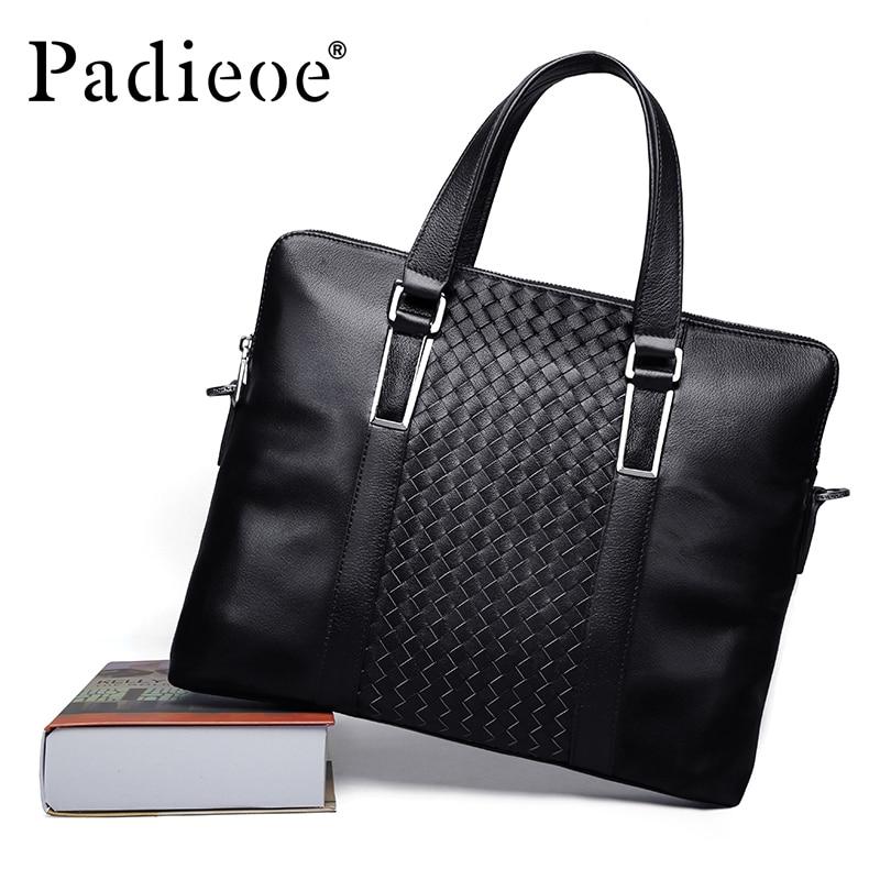 MEN leather messenger bags Mens briefcases bag black leather handbags Man  Shoulder laptop bag designer handbags high quality<br><br>Aliexpress