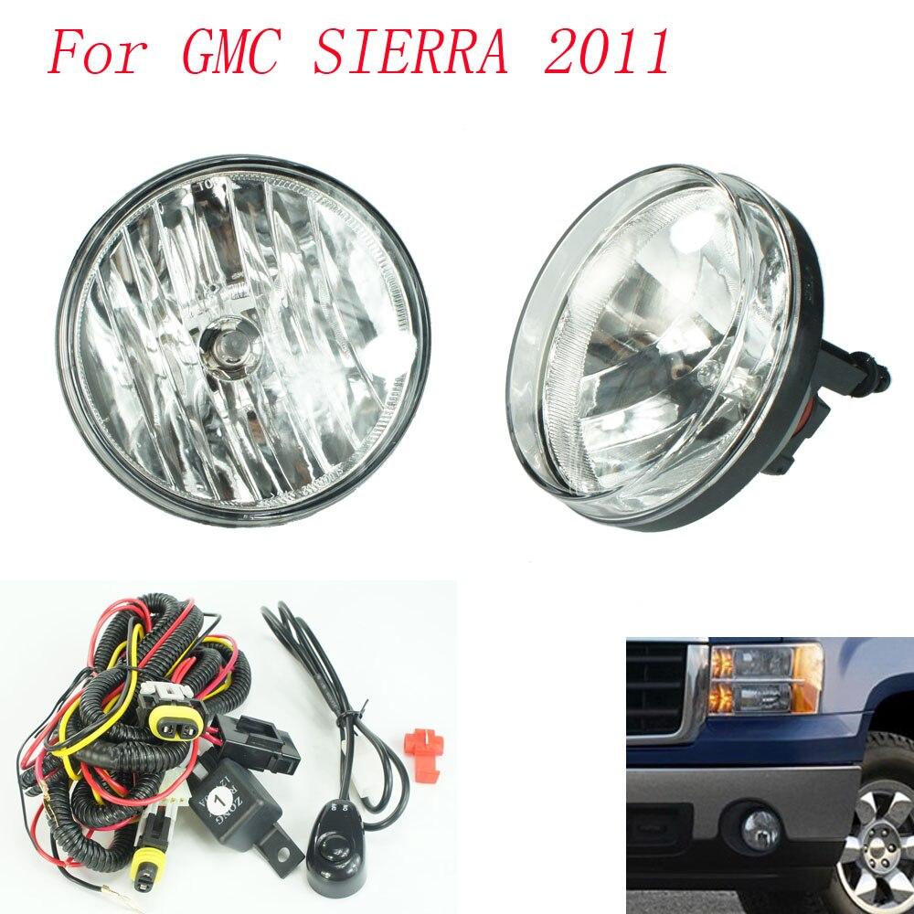Fog light for gmc sierra 2011 fog lamps clear lens bumper fog lights driving lamps