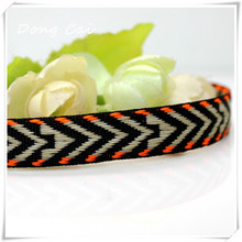 Free shipping 10yards/lot 1.3CM Zakka Personal design Character Woven Jacquard Webbing ethnic ribbon garment accessories