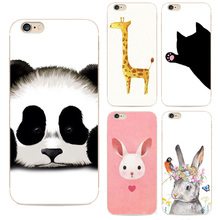 Zoo Lovely Panda Rabbit Cat Animal Painted Case For Apple Iphone 6 6s Case Soft Tpu Case For Iphone 6 Back Cover Shell