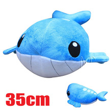 35cm XY Cartoon Plush Toys  Wailord Soft Stuffed Plush Doll Baby Toy Animal Cartoon Gift for Children