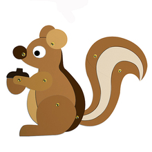 Paint Art Supplies for Kids Draw Game DIY Craft Squirrel Peacock Painting Cardboard Decor Drawing Educational Toy Children Gift(China)