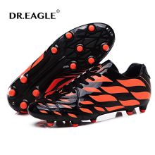 Men soccer shoes boys cleats kids Football boots for children Sport shoes spike for football Free shipping