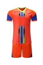 Men 16/17 quick dry Tranning Sports  Adult football team kits soccer sets Breathable Running  Jersey orange
