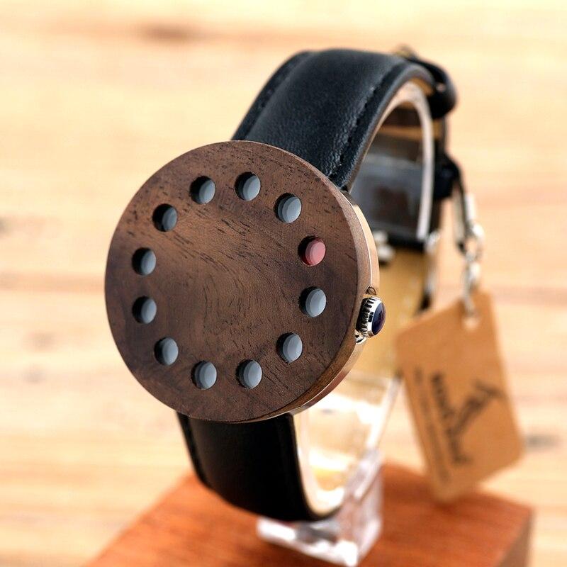 BOBO BIRD C12 Ebony Wooden Watch 12 holes design Stainless Steel Case Quartz-watch Clock 38mm Diameter for Men Women Reloj Mujer<br><br>Aliexpress