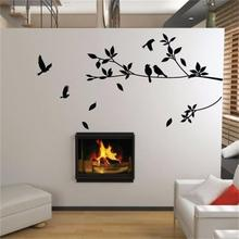Ebay hot flying bird tree branch vinyl cut wall stickers bedroom decoration 8171. removable diy home decals animal mural art 3.5(China)