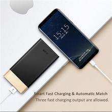Buy Teclast T100UC-G Ultra-thin 10000mAh 2.1A Outout QC3.0 Power Bank LED Power Display Micro USB + Type-C Input iPhone Samsung for $20.70 in AliExpress store