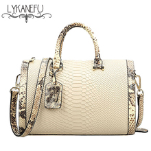 LYKANEFU Women Handbag PU Material Pillow Women Bag Designer Handbags High Quality Boston Tote Purse Shoulder Bag Bolsos Mujer
