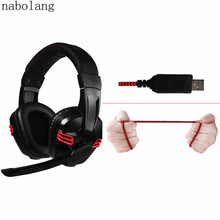 USB Gaming Headset Surround Sound Game Headphone Earphone with Microphone for PC computer Gamer(China)