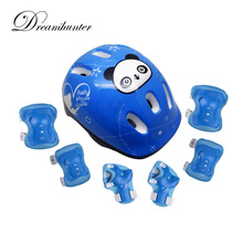 7pc/Set Child Skating Balanced climbing Knee Protect Elbow Support Wrist Protector Helmet guard roller Pad Palm Guards Protect(China)