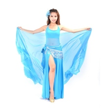 Belly Dance Dancing Costume Chiffon Shawl Veil Scarf Scarves 9 colors 250*120CM