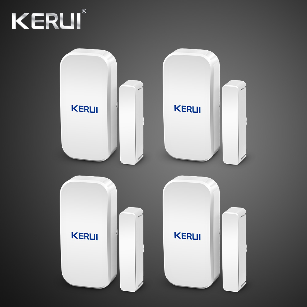 Kerui Home Alarm Wireless Door Window Magnetic Detector Gap Sensor  For GSM Wifi Home Security Alarm System Touch Keypad(China)