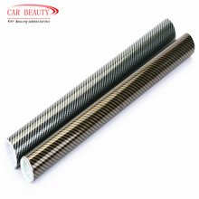 Glossy Black 2D Carbon Fiber Vinyl Wrap Film DIY Car Sticker Car Decorative For Vehicle Motorcycle 2 Colors(China)