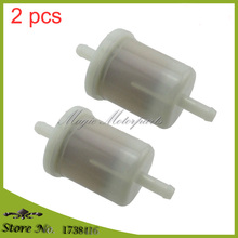 2 pcs Kubota 12581-43012 OEM Inline Diesel Gasoline Fuel Filter Assembly Universal(China)