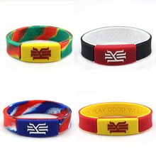 4pcs/lot high quality basketball sport energy silicone bangle With the KYRIE IRVING style bracelet power wristband