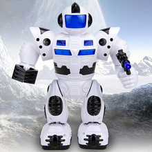 Musical Space Walking Dancing Robot Electric Robot Toys Rotating Dancer Music Light Electronic Pets For Children Birthday Gifts(China)