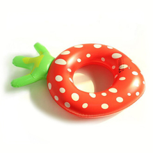 1 Pc Cute 2017 New Pineapple Strawberry Shape Inflatable Thickened Swimming Circle Ring Toys for Kids Summer Tools Funny Games(China)