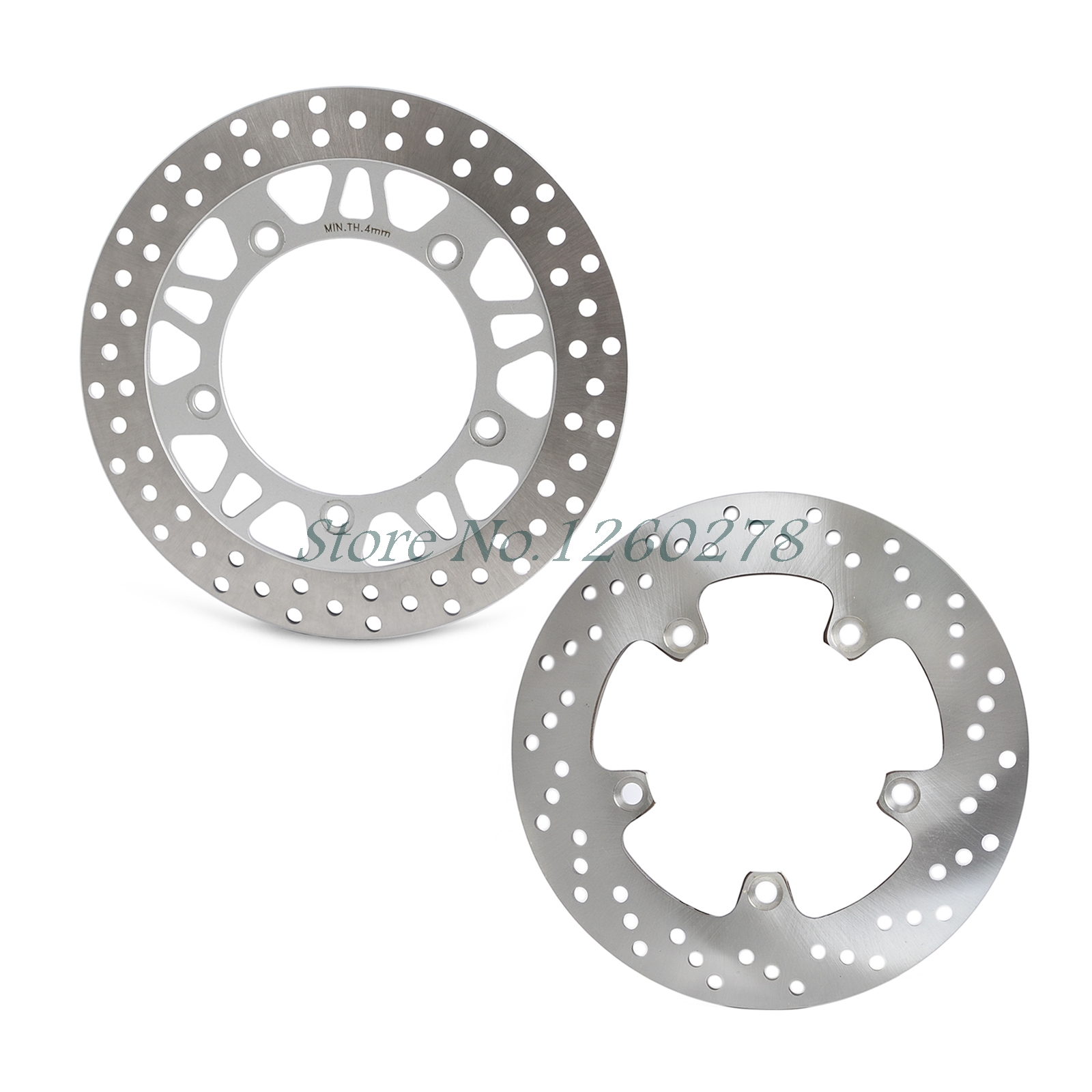 New Motorcycle Front &amp; Rear Brake Disc Rotor For Suzuki AN650 2004 2005 2006 2007 2008 2009 2010 2011 2012 AN 650<br>
