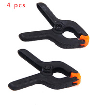 4 PCS 2 inch DIY Tools Plastic Nylon Toggle Clamps For Woodworking Spring Clip Photo Studio Grampo Clamp Hout Klemmen Sauterell