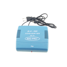 Hot Sale PAL Television System TV Signal Standard 220V EU Plug Audio Video Signal Converter AV To RF Modulator