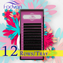 1 Tray/Lot B C D Curl Eyelashes Extension 8-14mm Mixed Tray High Quality Individual Eyelashes Natural False Eyelashes Salon Use(China)