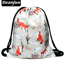 Deanfun Hot Fashion Super Deal Drawstring Bag Style 3D Printing Woman&Man Kids