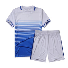 2016 17 Stripes Men Soccer Jersey Blank Training Set Soccer Uniform Plain Football Suits Can Customize Logo Name For Adults