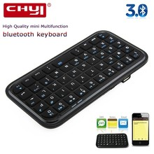CHYI Mini Wireless Bluetooth Keyboard Ergonomic Portable Handheld Super Slim Rechargeable Li-lion Battery BT Keypad For Phone PC(China)