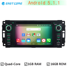 Quad Core Android 5.1.1 Car DVD Player for Jeep Compass Commander Grand Cherokee Wrangler Unlimited Radio Stereo GPS Navigation