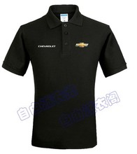 Summer Chevrolet Cars marked 4s shop tooling custom polo shirt cotton clothes for men and women(China)