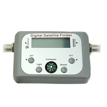 Digital LCD Satellite Finder Sat Finder Signal Strength Meter Sky Dish Freesat Grey