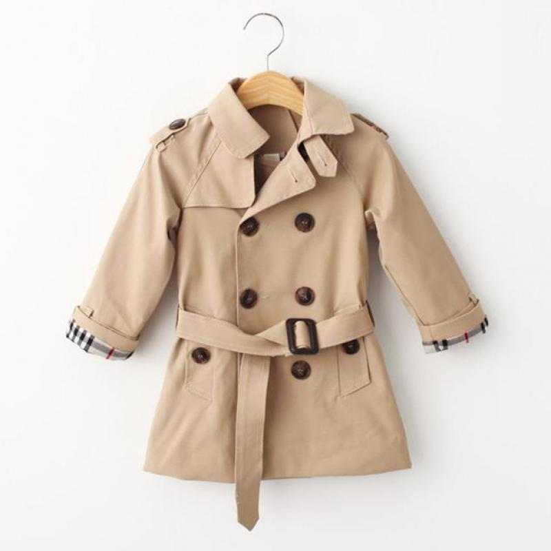 Girls Trench Coats Double Breasted Jackets For Girls Clothing Tops Kids Windbreaker Spring Autumn Outerwear for Boys 3~8years<br><br>Aliexpress
