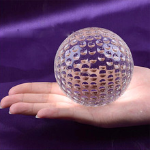 Huge Size Clear Crystal Glass Golf Ball Asian Quartz Sphere Home Decor Ornaments Fengshui Crafts Figurines Sports Souvenir Gifts(China)