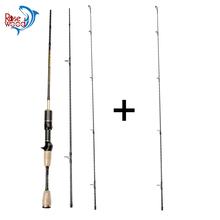 Cheap UL Casting Spinning Fishing Rod 1.8m Ultra Light Carbon Fiber Rods 2 Top Tips 3 Sections Lure Weight 0.8-5g Tackle Pesca