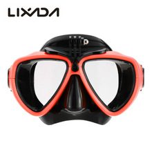 Professional Silicone Gear Scuba Diving Mask Equipment Snorkel with Camera Mount Anti-Fog Waterproof Swim/Dive Glasses Men Women(China)