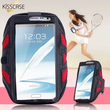 KISSCASE Note 5 4 3 2 Universal Net Breath Grid Running Arm Band Case For Samsung Note 5 4 3 Sport GYM Cover For Galaxy S6/S7