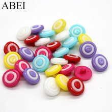 100pcs/lot Cartoon Lollipops Button for Girl Clothes Application Colorful Plastic Round Shank button Sewing Garment Ornaments(China)