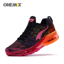 Onemix woman sport running shoes music rhythm women's sneakers breathable mesh outdoor athletic shoe light shoe size EU 35-40