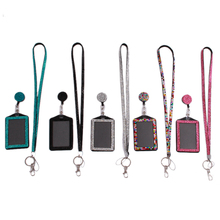 Rhinestone Lanyard Sling 5 Colors Bus IC Card Holder Employee Identity Card Badge With Lanyard Hang Rope Card Holder XZ677576