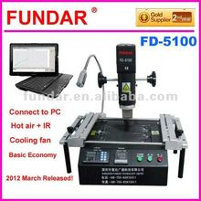EMS Free shipping for Argentina market 2012 New Fundar FD-5100 Hot air BGA rework station with free 6 in 1bga reballing kit