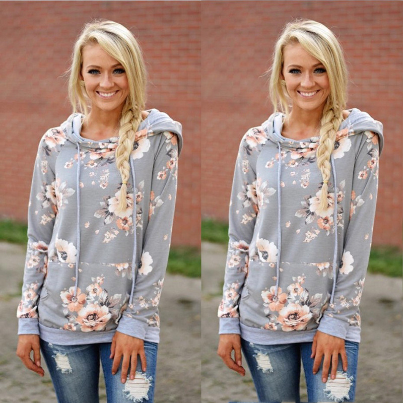 New Double Hood Sweatshirt, Women's Long Sleeve, Side Zipper Hooded Casual Pullover 36
