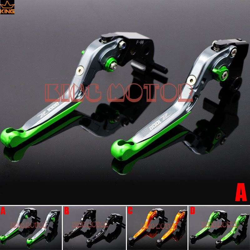 For KAWASAKI Z1000 2007-2016 Z 1000 Motorcycle Accessories Adjustable Folding Extendable Brake Clutch Levers Gray<br>